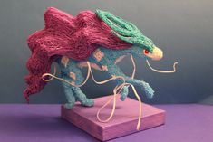 Beautiful 3d pen sculpture of a pokemon from http://drawingbeyondpaper.deviantart.com/.  I love the delicate features!