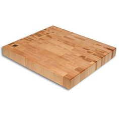 Maple Rectangle Butcher Block features durable end-grain construction that can withstand years of heavy daily use. Great for entertainers and chefs, this block's bright maple looks beautiful in any kitchen setting, while the hardwood feet ensure no slipping or sliding on the counter surface. The end-grain construction also adds strength and resistance that's gentle on knives.