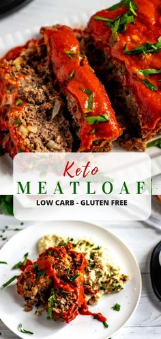 This Keto Meatloaf Recipes is the best easy recipe you will find for a family dinner! With just 15 minutes of hands on time, and a zesty sauce, you are going to love this one. Keto Lunch Ideas, Lunch Recipes, Low Carb Recipes, Dinner Recipes, Healthy Recipes, Dinner Ideas, Meal Ideas, Meatloaf Recipes, Beef Recipes