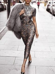 Silver Slay // Robe Hot Miami Styles // Look Fashion par Micah Gianneli - M . Style Miami, Hot Miami Styles, Sexy Dresses, Beautiful Dresses, Evening Dresses, Gorgeous Dress, Miami Fashion, High Fashion, Womens Fashion