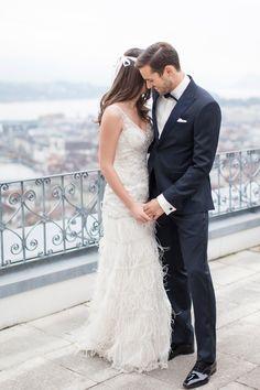 Modern, romantische Hochzeitsinspiration auf Château Gütsch