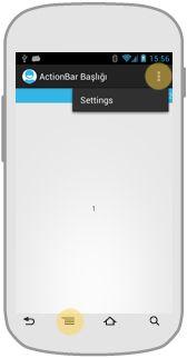 Android'de ActionBar menüsünü sağ üste sabitlemek