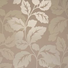 Clarke & Clarke Vine Double Roll Wallpaper in Taupe