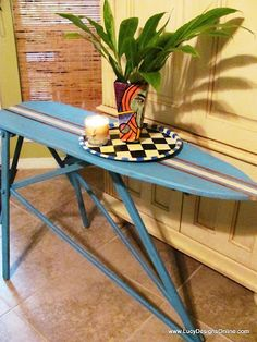 Lucy Designs: Ironing Board to Surf Board Table