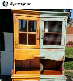 1950's cupboard  . Before and after .  Follow instagram. @DIY.VINTAGE.LUV