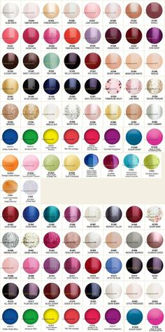 Gelish Color Chart 90 Colors | See more nail designs at http://www.nailsss.com/...