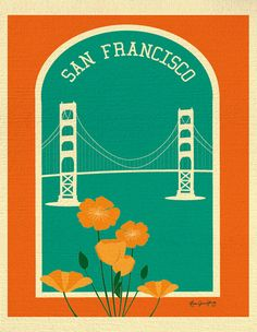Vertical Print of San Francisco Golden Gate Bridge by loosepetals