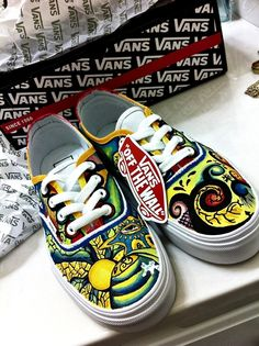 "2fb49dffc0 creativityism  Latest pair of custom vans I painted. These are called the  ""Trippy"