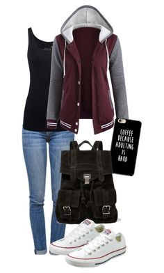 """school days"" by deliag ❤️ liked on Polyvore featuring Current/Elliott, Juvia, Proenza Schouler and Converse"