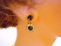 R.L. Griffith rhinestone dangle earrings by maggiescornerstore