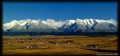 (MONTANA) The Mission Mountain Range, St. Ignatius