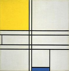 Piet Mondrian, Composition with Blue and Yellow (Composition Bleu-Jaune), 1935