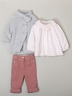 Silhouette BABIES' LONG CARDIGAN + BABIES' TROUSER-TUNIC OUTFIT -