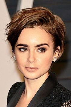Short haircuts that will completely make you want to chop it all of -- how gorgeous does Lily Collins like here with her short hair?