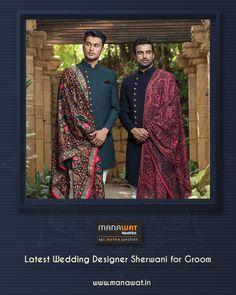 Sherwani Groom, Wedding Sherwani, Churidar, Stylish Men, Mens Suits, Wedding Designs, Latest Fashion, Our Wedding, Formal