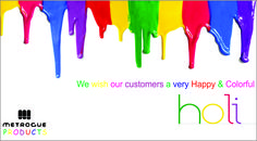 On the vibrant festival of colors, Metrogue wishes you all a cheerful #Holi!