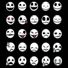 nightmare before christmas jack skellington im faces