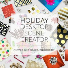 Oh my! The Holiday desktop scene creator makes me feel like I'm in a candy shop!  She hit it out of the ballpark with this one!  You should get it too!
