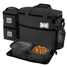 Overland Dog Gear Travel Bag - Week Away Bag for Medium & Large Dogs with 2 Food Carriers, Placemat & 2 Bowls Overland Dog Gear™ Travel Bag - Week Away Bag for Medium & Large Dogs with 2 Food Carriers, Placemat & 2 Bowls - image 3 of 5 Pet Travel, Travel Bag, Japan Travel, Travel Style, Large Dogs, Small Dogs, Le Plus Grand Chien, Overland Gear, Dog Bag
