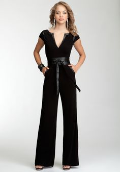 Wrap Belt Knit Jumpsuit. Would be my super secret spy outfit.