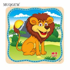 [ 15% Off ] MUQGEW Animal Colored Dominoes Wooden Puzzle Cartoon Cute Learn Tie Shoe Lace Toy Teaching Toy Early Education Montessori Board