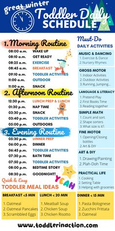 Simple and Easy Daily Toddler Schedule incl. Must-Do Daily Activities and Toddler Meal Ideas, Simple and Easy Daily Toddler Schedule incl. Must-Do Daily Activities and Toddler Meal Ideas , Toddler Learning Activities, Daily Activities, Infant Activities, Babysitting Activities, Health Activities, Family Activities With Toddlers, Day Care Activities, School Holiday Activities, Painting Activities