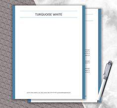 Letterhead Template For Word  Diy Stationery Paper  Instant