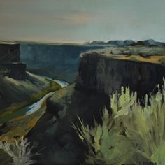 """Snake River Canyon Morning""   12x12 -  oil on panel"