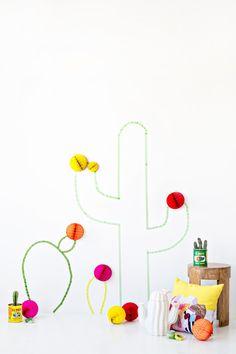 DIY Washi Tape Cactus Wall Art | Studio DIY®