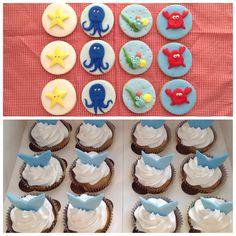 La sirenita... Cupcakes y cookies