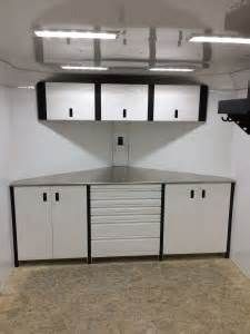 v nose enclosed trailer cabinets race trailer cabinets work cargo trailers 27906