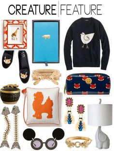 animal inspired fashion and decor