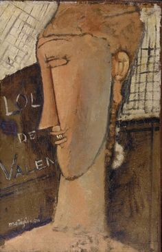 Lola de Valence by Amedeo Modigliani, Modern and Contemporary Art Medium: Oil on paper, mounted on wood Bequest of Miss Adelaide Milton de Groot 1967 Metropolitan Museum of Art, New York, NY Amedeo Modigliani, Modigliani Paintings, Oil Paintings, Italian Painters, Italian Artist, Karl Schmidt Rottluff, Emil Nolde, Atelier D Art, Paul Cezanne