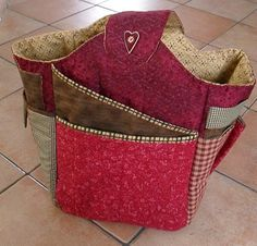 Country cozy red bag