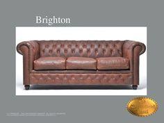 Chesterfield 3 asiento</br>Brighton 3 Vintage Vintage Brown