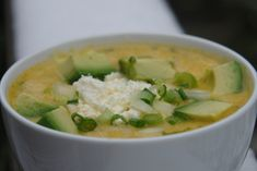 Ecuadorian food - Locro de Papas * Potato soup...really good, for the lactose tolerant...