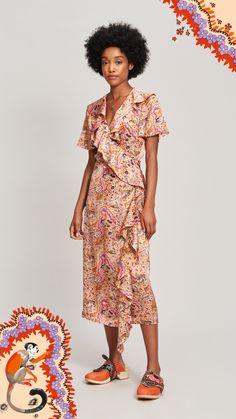 Liberty Ready to Wear Summer 2020 Cotton Shirt Dress, Satin Shirt, Smock Dress, Ruffle Dress, Liberty Fabric, Liberty Print, Button Up Skirts, Satin Midi Skirt, Mixing Prints