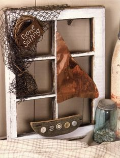 FREE How -To Gone Sailing Window project!   #craft projects, #coastal home decor, #diy home decor project, #Sue Allemand