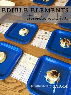 edible elements: atomic cookies to review the 1st 12 elements of the periodic table with cultivated by grace