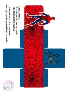Festa homem aranha Spiderman Theme Party, Superhero Party, Halloween Signs, Halloween Art, Cool Paper Crafts, Disney Princess Party, Silhouette America, Party In A Box, Wreath Crafts