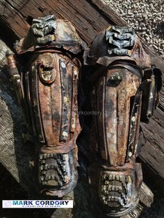 Post Apocalyptic Mad Max armour (greaves) made by Mark Cordory Creations www.markcordory.com