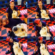 Markiplier with Chica :3