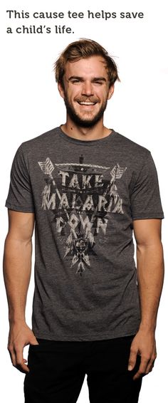 Another one for the guys. This week we're fighting to end Malaria in Rwanda, Africa! Pick up a tee (Click on the picture), look good, AND save lives at the same time. :)