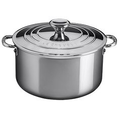 Le Creuset of America Stainless Steel Deep Casserole with Lid, 3-Quart, Stainless