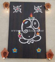 Latest creative ganapati Rangoli for festival or special occasion Easy Rangoli Designs Videos, Easy Rangoli Designs Diwali, Rangoli Simple, Simple Rangoli Designs Images, Rangoli Designs Latest, Free Hand Rangoli Design, Small Rangoli Design, Rangoli Ideas, Rangoli Designs With Dots