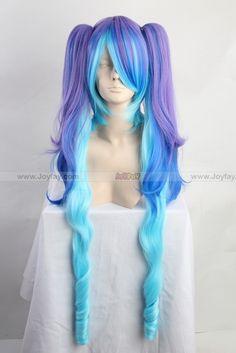 Vocaloid Hatsune Miku Bluish Violet Cosplay Wig   http://www.joyfay.com/us/vocaloid-hatsune-miku-bluish-violet-cosplay-wig-cosplay-accessory.html