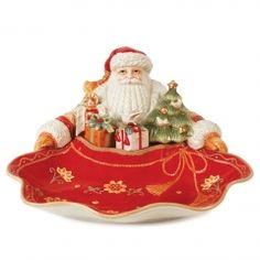 Bianco Santa Server from Fitz and Floyd