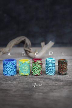 mm Mandala dread beads dreadlock accessories by Lelandjewelry Dread Jewelry, Dreadlock Jewelry, Dread Beads, Hair Beads, Fun Diy Crafts, Bead Crafts, Handmade Design, Handmade Art, Dreadlock Accessories