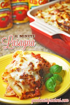 30-minute lasagna recipe from @crisgoode