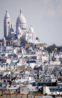 """""""Sacre Coeur, Paris Cityscape"""" by djKianoosh on Flickr - Sacre Coeur, Paris Cityscape"""